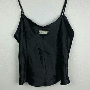 Victoria's Secret Tops - Victoria's Secret black silk camisole top